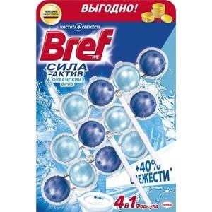 Чистящее средство для унитаза Bref Сила-актив океанский бриз 3 х 50 г формула 4 в 1 чистящее средство для унитаза bref сила актив с хлор компонентом 50г