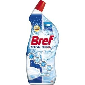 Чистящее средство для унитаза Bref тотал гель чистота и блеск океанский бриз 700 мл чистящее средство для унитаза bref сила актив с хлор компонентом 50г