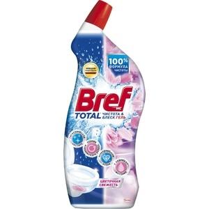 Чистящее средство для унитаза Bref тотал гель чистота и блеск цветочная свежесть 700 мл чистящее средство для унитаза bref сила актив с хлор компонентом 50г