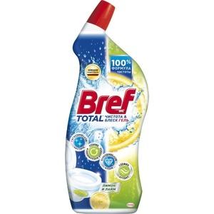 Чистящее средство для унитаза Bref тотал гель чистота и блеск лимонная свежесть 700 мл чистящее средство для унитаза bref сила актив с хлор компонентом 50г