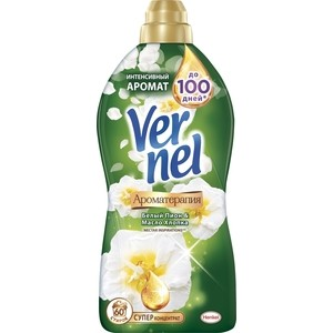 Кондиционер для белья Vernel концентрат арома пион и хлопок 1,82 л