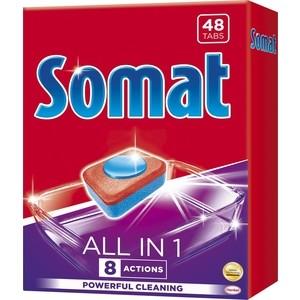 Таблетки для посудомоечной машины (ПММ) Somat all in one 48 шт all in one piece