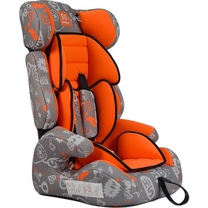 Автокресло Farfello GE-E серо-оранжевый (orange+colorful)