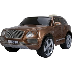 Электромобиль Farfello JJ2158 Bentley Bentayga (лицензия, 12V, металлик, EVA, экокожа, Bluetooth) бронзовый