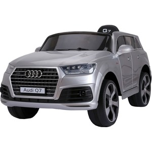 Электромобиль Farfello JJ2188 Audi Licensed Q7 (лицензия, 12V, металлик, EVA, экокожа, Bluetooth) серебристый