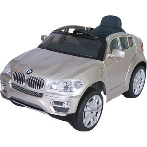 Электромобиль Farfello JJ258 BMW X6 (лицензия, 12V, металлик, EVA, экокожа) серебристый