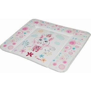 Матрас для пеленания Baby Care 820х730х210 Фанни Банни, розовый (Funny Bunny, pink) BC01