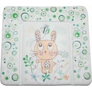 Матрас для пеленания Baby Care 820х730х210 Фанни Банни, зеленый BC01