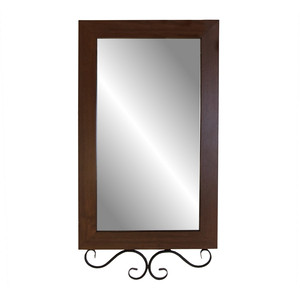 Зеркало навесное Мебелик Сартон 51 черный/средне-коричневый стоимость