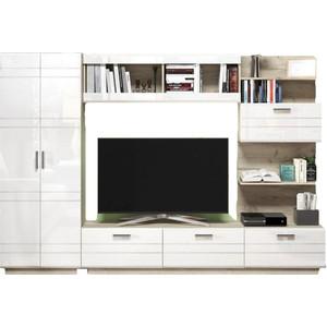 Гостиная Vivat - мебель Глейс-02 белый глянецдуб серый
