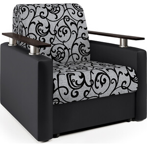 Кресло-кровать Шарм-Дизайн Шарм черный узоры фото