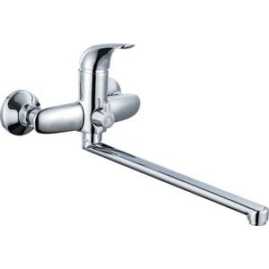 Смеситель для ванны GROSS AQUA Corsa с длинным изливом 350 мм (7214215С - 35L(F))