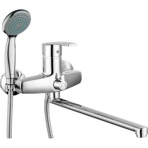Смеситель для ванны GROSS AQUA Nord с длинным изливом 350 мм (7517514С - 35L(F))