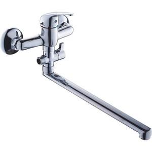 Смеситель для ванны GROSS AQUA Mini с длинным изливом 350 мм (7210213 - 35F) gross aqua trio 7016029с 35f