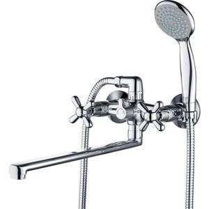 Смеситель для ванны GROSS AQUA Retro с длинным изливом 350 мм (7016083С - 35L(F) Н)