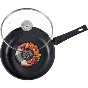 Сковорода с крышкой, съёмная ручка Panairo d 22см Lordom (LO-22-G-S)
