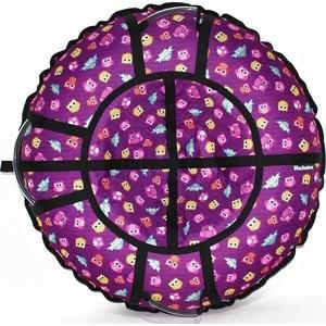 Тюбинг Hubster Люкс Pro Совята фиолетовые 90 см
