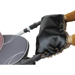 Муфта Vikalex Snow Dreams черная эко-кожа/коричневый мех (Vi67525)