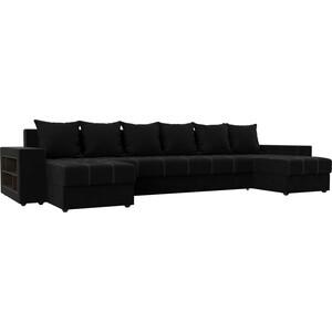 Фото - Диван АртМебель Дубай микровельвет черный П-образный диван артмебель триумф п slide микровельвет черный