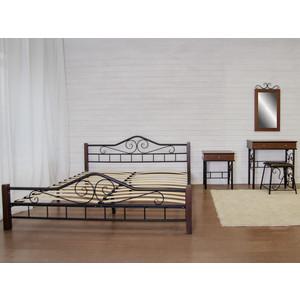 Кровать Мебелик Сартон 1 (180) черный/средне-коричневый стоимость