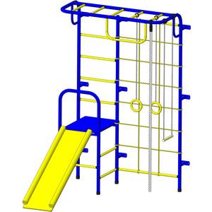 Детский спортивный комплекс Пионер С107М сине-желтый цена