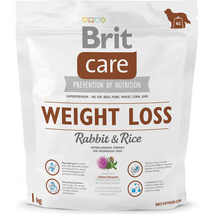 Сухой корм Brit Care Weight Loss Rabbit & Rice гипоаллергенный с кроликом и рисом для собак избыточным весом 1кг (132738)