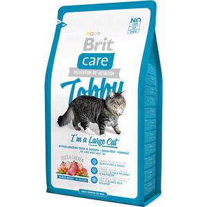 Сухой корм Brit Care Cat Tobby с уткой для кошек крупных пород 7кг (512980)