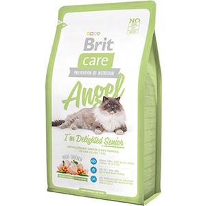 Сухой корм Brit Care Cat Angel Delighted Senior с курицей и индейкой для пожилых кошек 7кг (132606)