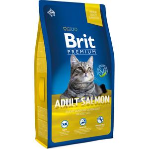 Сухой корм Brit Premium Cat Adult Salmon с лососем в соусе для взрослых кошек 8кг (513130)