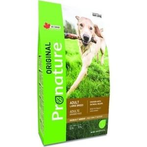 Сухой корм Pronature Original Adult Dog Large Breed Chicken with Oatmeal Recipe с курицей и овсом для собак крупных пород 15кг (102.524) цена в Москве и Питере