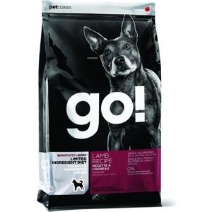 Сухой корм GO! NATURAL Holistic Dog Sensitivity+ Shine Grain+Gluten Free Lamb Recipe беззерновой с ягненком для щенков и собак 11,3кг (48536)