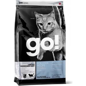Сухой корм GO! NATURAL Holistic Cat Sensitivity+ Shine Grain Free Pollock Recipe беззерновой с минтаем для котят и кошек 1,82кг (20976)