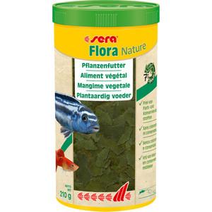 Корм SERA Flora Nature Vegetable Flakes хлопья для растительноядных аквариумных рыб 1л (210г) корм sera granugreen 250ml 09630 для растительноядных цихлид