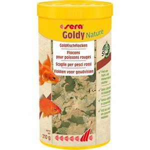 Корм SERA Goldy Nature Goldfish Flakes хлопья для мелких золотых рыб 1л (210г) цена