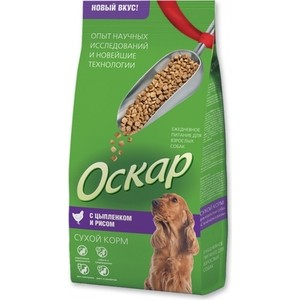 Сухой корм Оскар с цыпленком и рисом для взрослых собак средних пород 13кг (201001209)