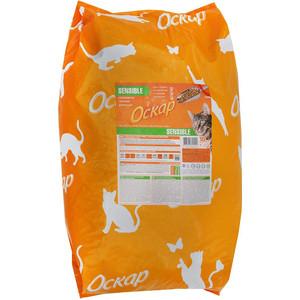 Сухой корм Оскар SENSIBLE для кошек с чувствительным пищеварением 10кг (201001210) корм для кошек bosch sanabelle с чувствительным пищеварением ягненок сух 10кг