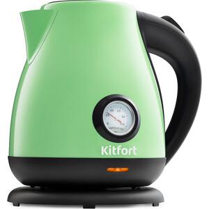 Чайник электрический KITFORT KT-642-6, светло-зелёный