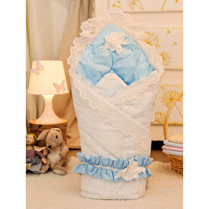 Конверт-одеяло на выписку АРГО PRIMA Ваниль/Голубой Осень-Весна 0152/Г конверт на выписку арго бантики
