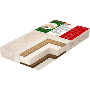 Матрас детский Ploomababy PLOOMA 6 SHC B1 120х60x12 bamboo / сизаль холлкон кокос P6