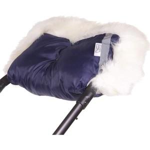 Муфта для рук Герасимова Премиум отделка длинноворсовый мех шерстяной мех+плащевка т.синий 353