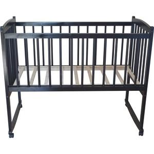 Кроватка Массив колесо качалка Беби-1 цвет венге Беби венге кроватка daka baby укачай ка 02 цвет венге