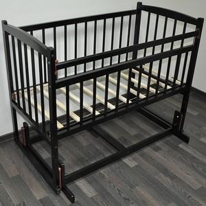 Кроватка Массив поперечного качания без ящика Беби-4 цвет венге Беби М.Поп.