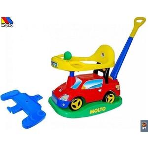 Автомобиль-каталка Molto 63090 Пикап многофункциональный красный с ручкой