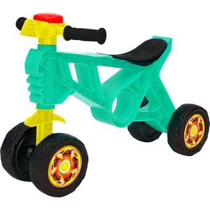 Каталка беговел RT ОР188 Самоделкин 4 колеса с клаксоном бирюзовая каталка беговел rt самоделкин пластик от 1 года на колесах бирюзовый