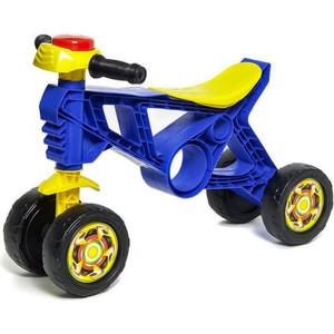 Каталка беговел RT ОР188 Самоделкин 4 колеса с клаксоном синяя все цены