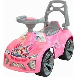 Каталка машинка RT ОР021 Ламбо с клаксоном розовый
