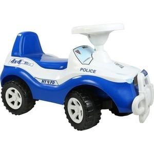 Каталка машинка RT ОР105 Джипик POLICE с клаксоном бело-синяя