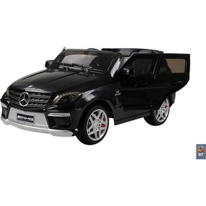 Электромобиль RT ML63 Mercedes-Bens AMG 12V R/C black с резиновыми колесами rt bmw x6 12v r c 258 4387