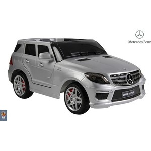 Электромобиль RT ML63 Mercedes-Bens AMG 12V R/C silver с резиновыми колесами rt bmw x6 12v r c 258 4387
