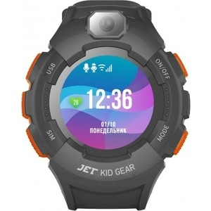 Детские умные часы JET Kid Gear orange grey